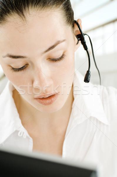 Zestawu piękna business woman twarz kobiet Zdjęcia stock © choreograph