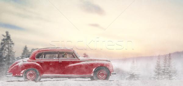 woman enjoying road trip Stock photo © choreograph