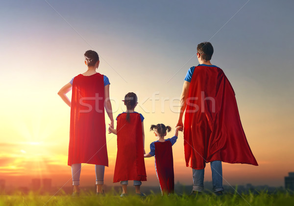 Concept of super family. Stock photo © choreograph