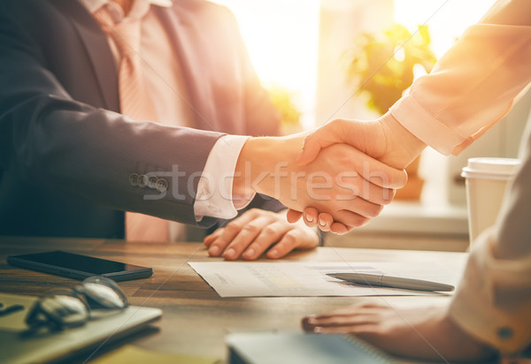 handshaking in office Stock photo © choreograph
