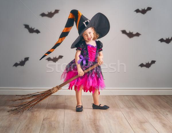 Criança halloween feliz bonitinho pequeno risonho Foto stock © choreograph