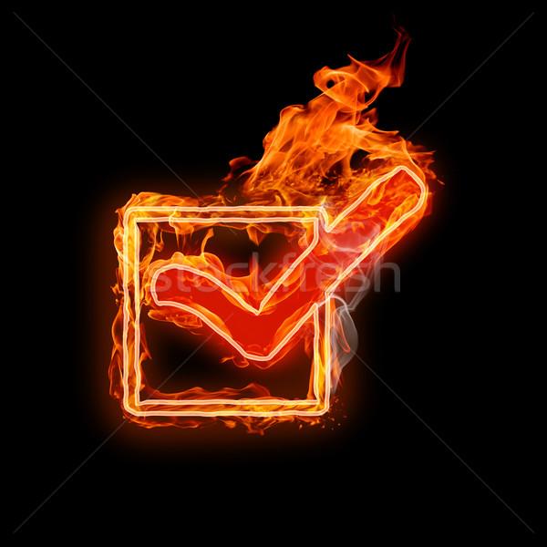 символ ярко черный огня аннотация знак Сток-фото © choreograph