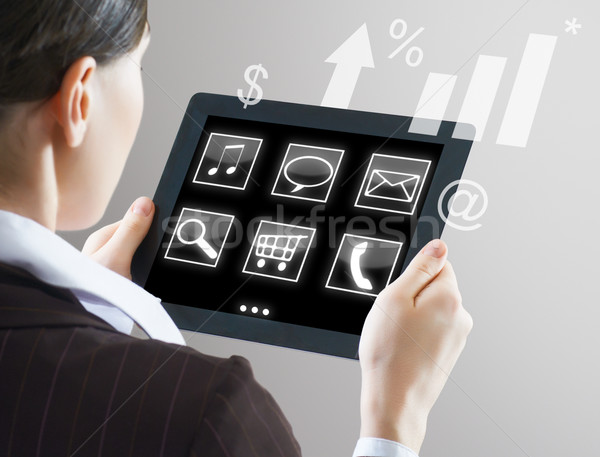 Stock photo: tablet pc