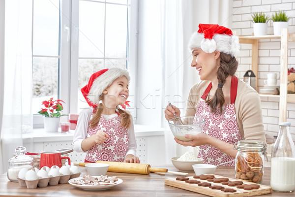 приготовления Рождества Печенье матери дочь женщину Сток-фото © choreograph
