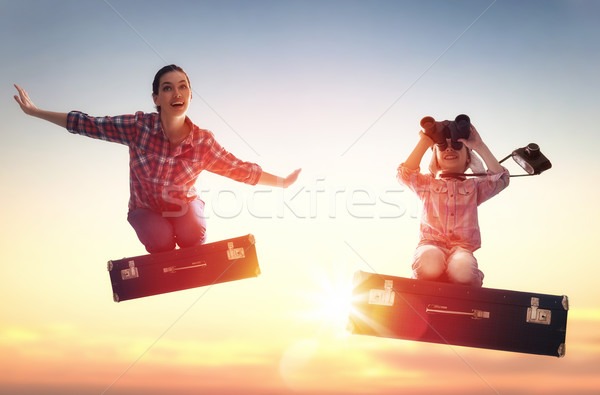 Dreams of travel! Stock photo © choreograph