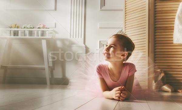 girl in a pink tutu Stock photo © choreograph