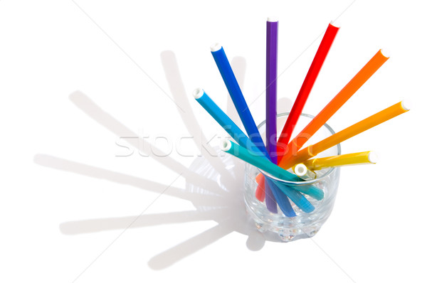 Stock photo: Markers in a glass