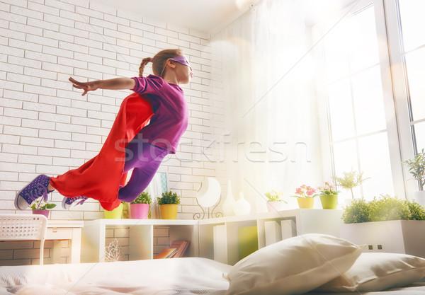 girl in Superhero's costume Stock photo © choreograph