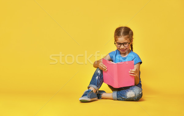 ребенка чтение книга мало Kid ярко Сток-фото © choreograph