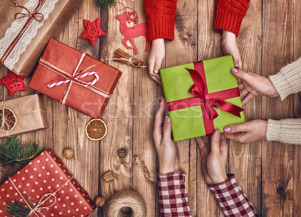 Christmas family traditions Stock photo © choreograph