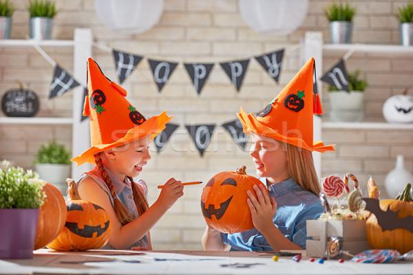 kids at halloween Stock photo © choreograph