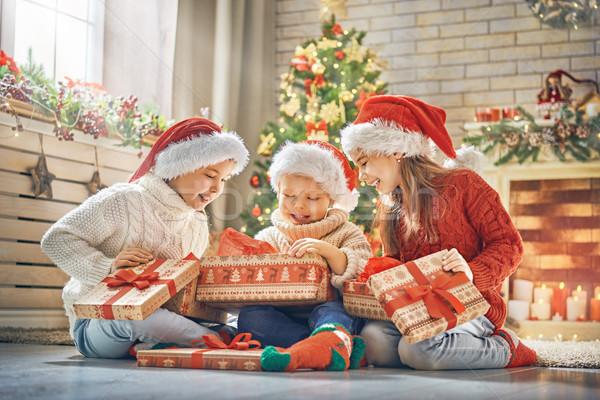 Сток-фото: детей · Рождества · веселый · счастливым · праздников