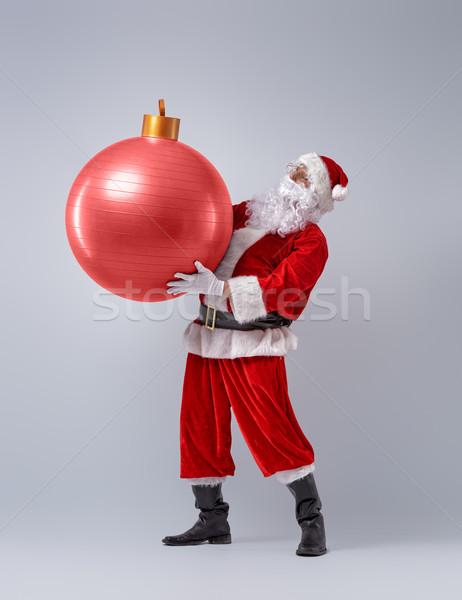 Noel baba Noel önemsiz şey portre komik dev Stok fotoğraf © choreograph