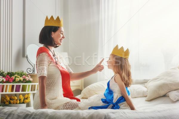 королева Принцесса золото счастливым любящий семьи Сток-фото © choreograph