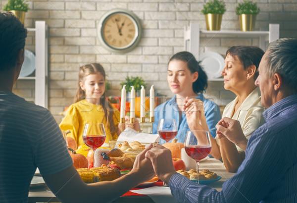 Feliz ação de graças dia outono festa família Foto stock © choreograph