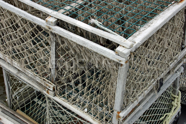 Aragosta seduta nuovo Inghilterra dock pesca Foto d'archivio © chrisbradshaw