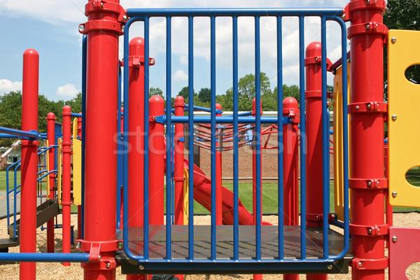 Játszótér üres szett park iskola sport Stock fotó © chrisbradshaw