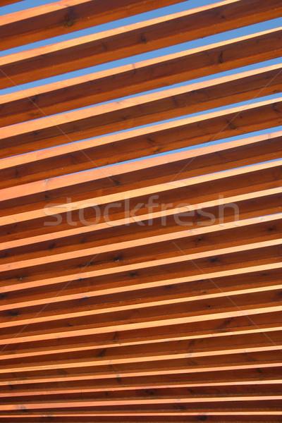 Bois bois cadre architecture modèle horizons Photo stock © chrisbradshaw