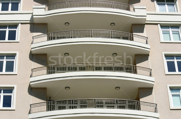 Modern Balconies Stock photo © chrisbradshaw
