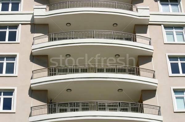 Moderno ver edifício moderno céu edifício projeto Foto stock © chrisbradshaw