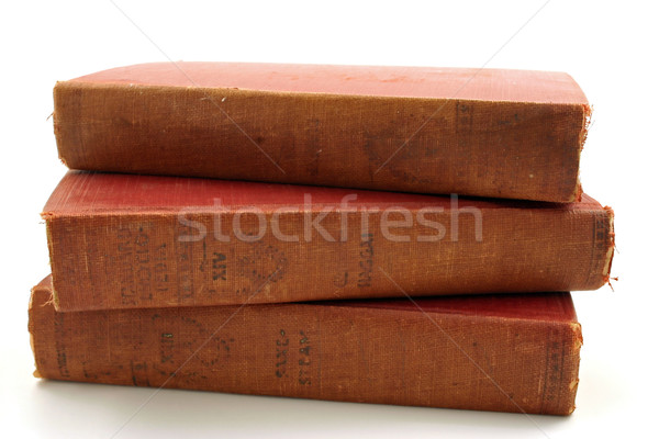 A group of old books Stock photo © chrisbradshaw