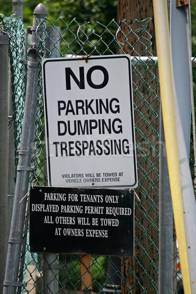 No Dumping Sign Stock photo © chrisbradshaw