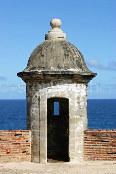 Guarda san juan Porto Rico céu água oceano Foto stock © chrisbradshaw
