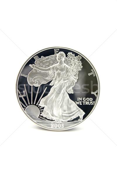 Zdjęcia stock: Jeden · srebrny · Dolar · amerykański · orzeł · monety