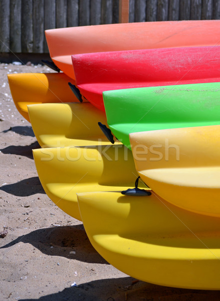 Kayaks 2 Stock photo © chrisbradshaw