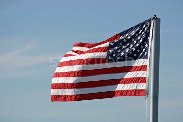 флаг американский флаг ветер свободу Сток-фото © chrisbradshaw