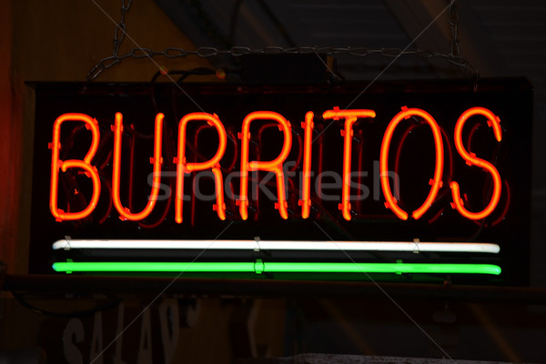 Burritos Sign Stock photo © chrisbradshaw