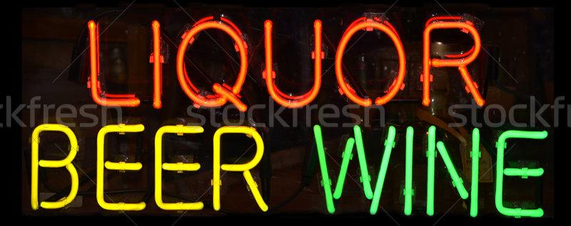 Liquor Sign Stock photo © chrisbradshaw