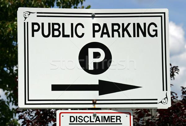 Photo stock: Public · parking · blanc · noir · signe · trafic · parc