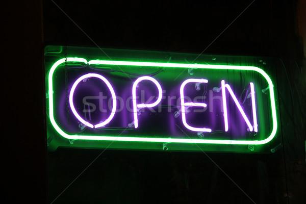 Open Sign Stock photo © chrisbradshaw