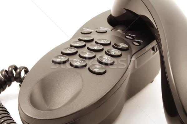 Téléphone noir blanche technologie fond Photo stock © chrisbradshaw