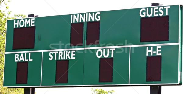 Sayı tahtası yeşil spor beysbol top Stok fotoğraf © chrisbradshaw