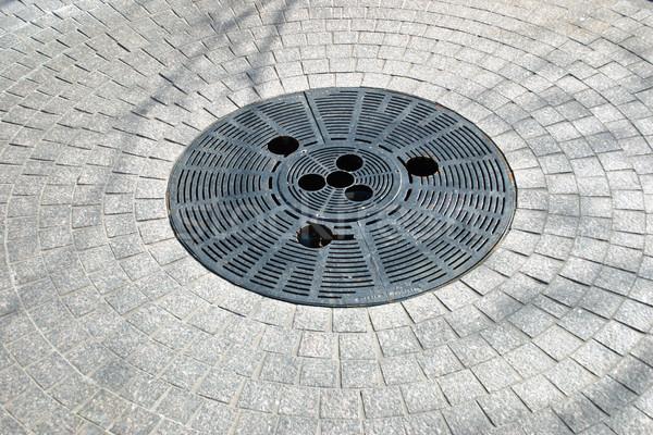 水 ドレイン テクスチャ 金属 ストックフォト © chrisbradshaw