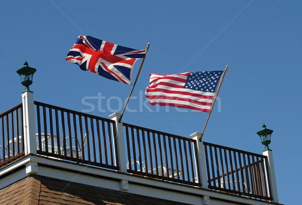 Two Flags Stock photo © chrisbradshaw
