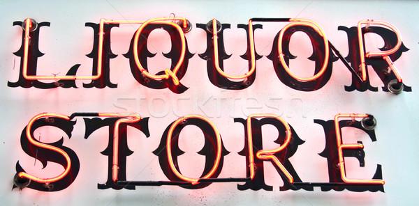 Szeszes ital felirat bolt ital klasszikus alkohol Stock fotó © chrisbradshaw