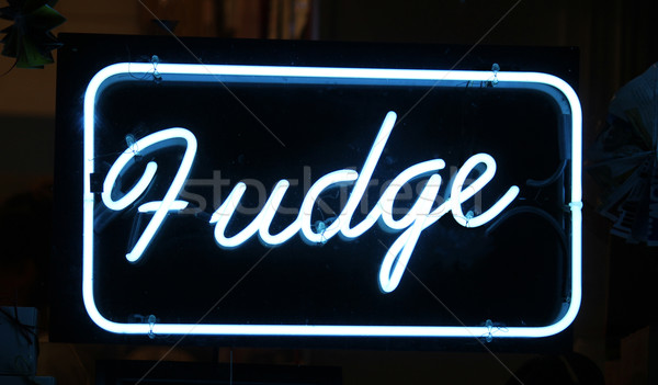 Fudge Sign Stock photo © chrisbradshaw