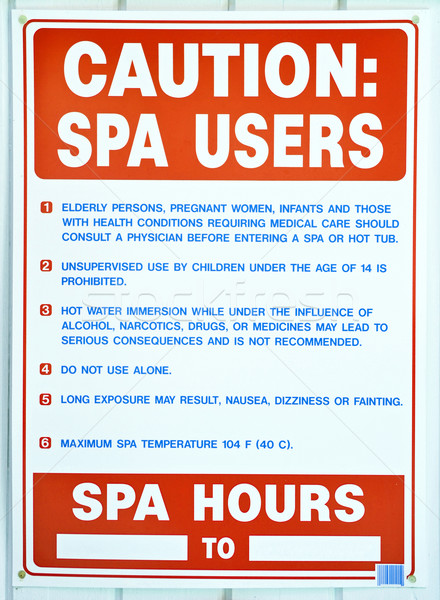 Spa Rules Stock photo © chrisbradshaw