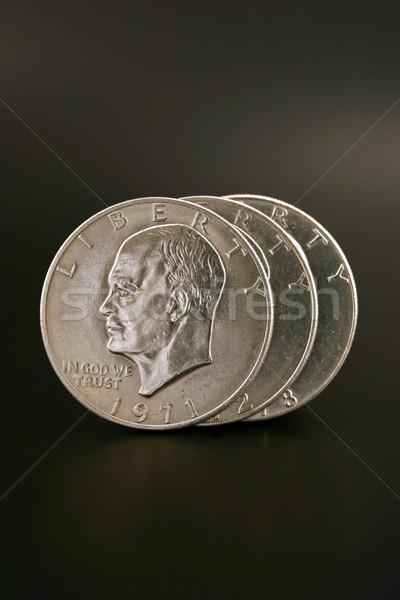 Stock photo: Three Silver Dollars