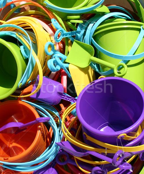 Plage jouets coloré soleil enfant Photo stock © chrisbradshaw