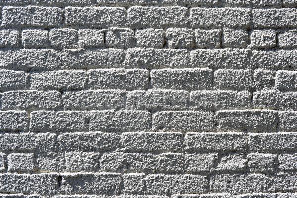 Stuc mur de briques blanche texture bâtiment mur Photo stock © chrisbradshaw