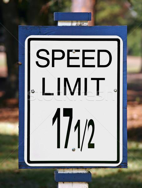 Speed Limit Sign Stock photo © chrisbradshaw