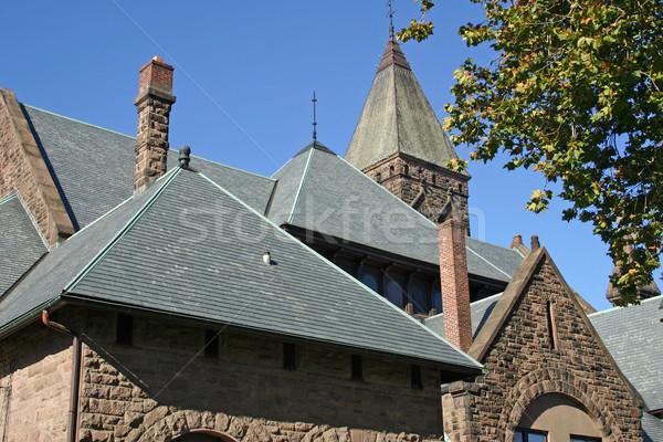 Templom tető felső égbolt Isten kék ég Stock fotó © chrisbradshaw