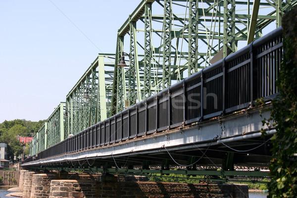 Brug Delaware rivier hemel frame Blauw Stockfoto © chrisbradshaw