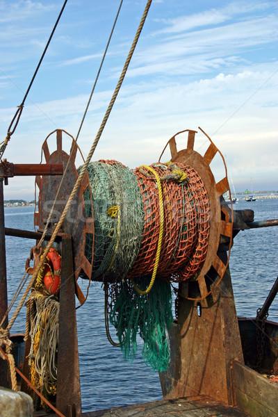 лодка порт воды синий рыбалки Сток-фото © chrisbradshaw