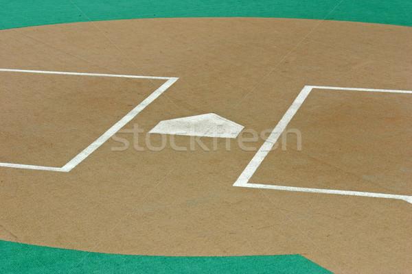 Otthon tányér baseball pálya mesterséges tőzeg sport Stock fotó © chrisbradshaw