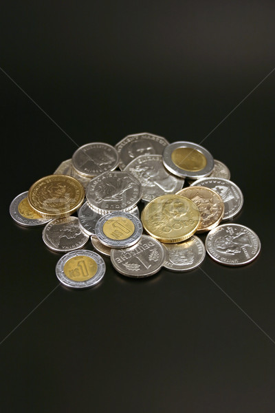 Stock photo: Coins from around the world